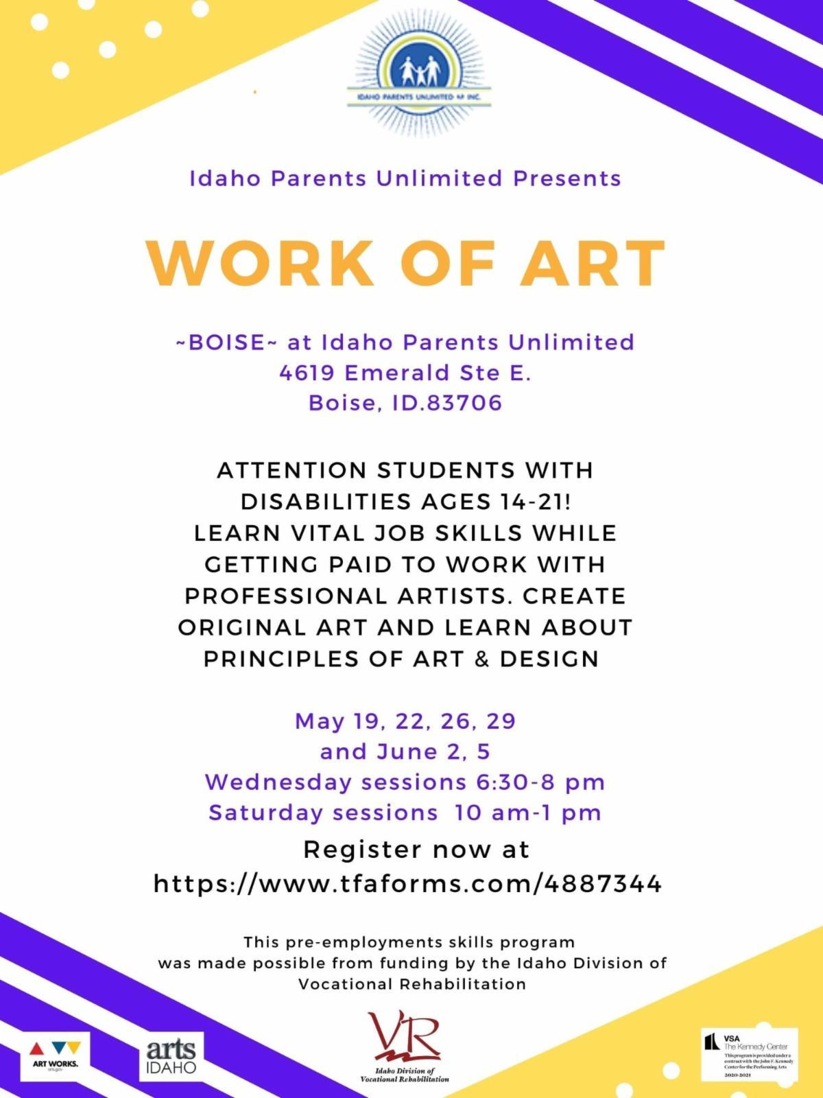 Work of Art Boise flyer