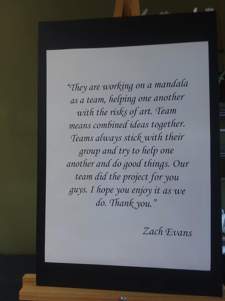 A quote from one of the artists