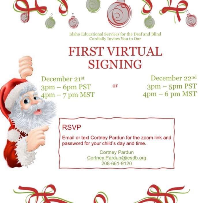 Signing Santa Flyer