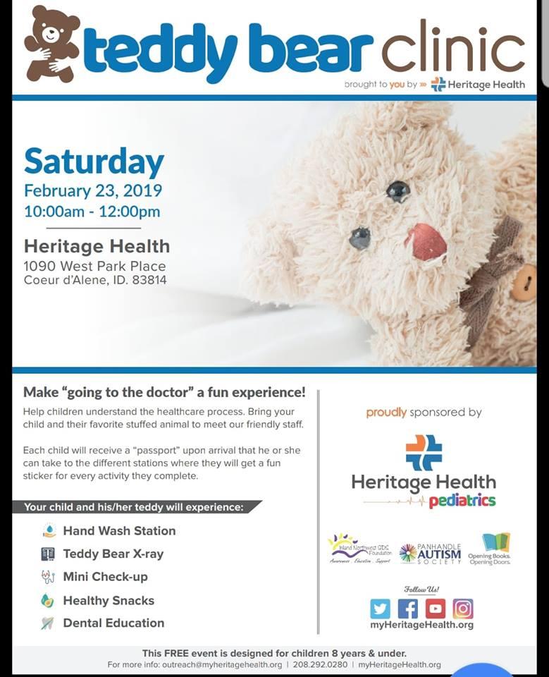 Flyer for the teddy bear clinic