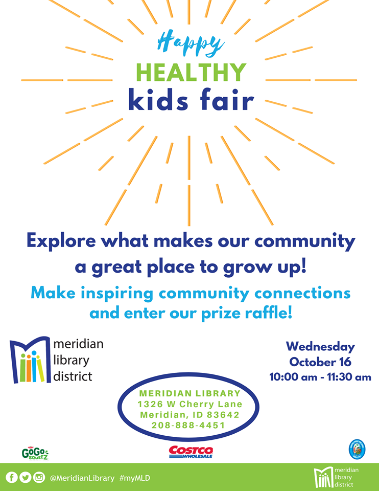 Event flyer for happy Healthy kids fair
