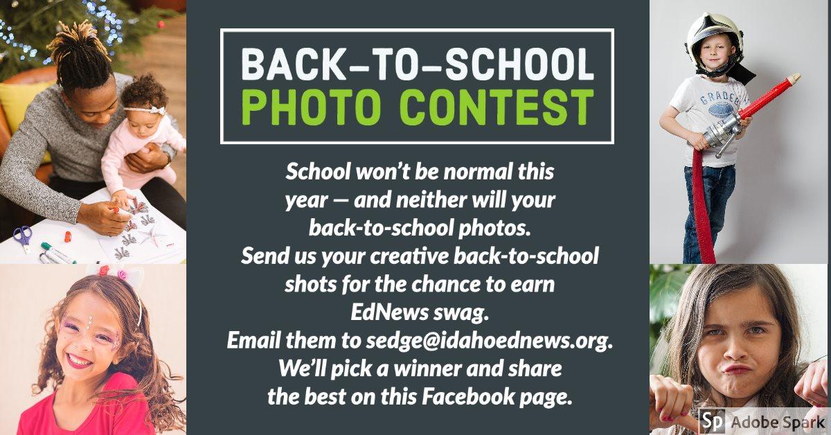 Back to school photo contest flier