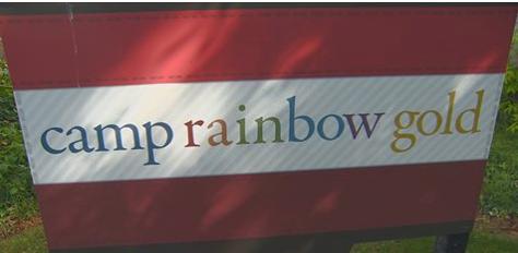 camp rainbow golds sign