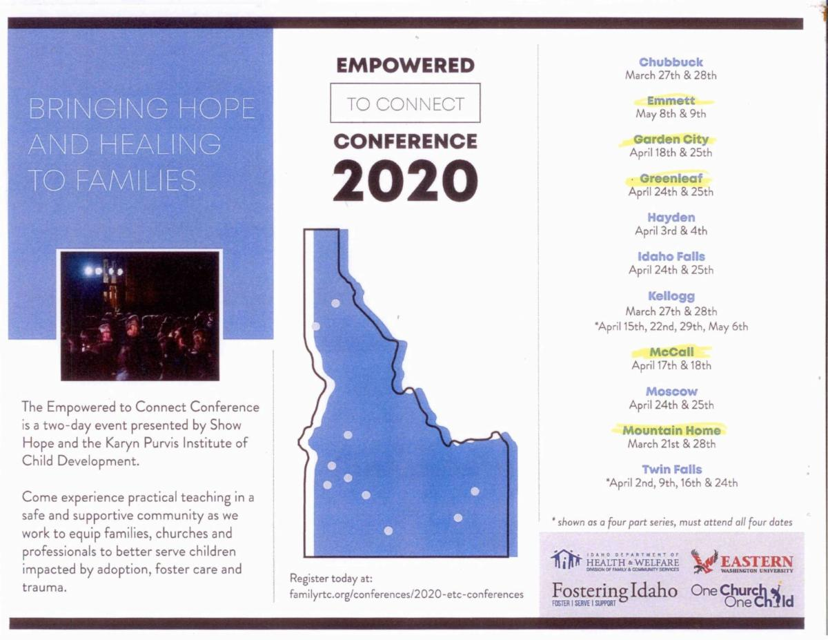 empowered to connect 2020 flyer