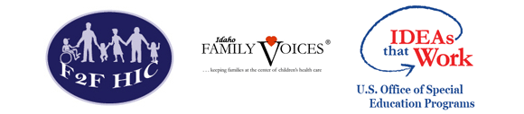 logos for F2F Family Voices and Ideas that Work