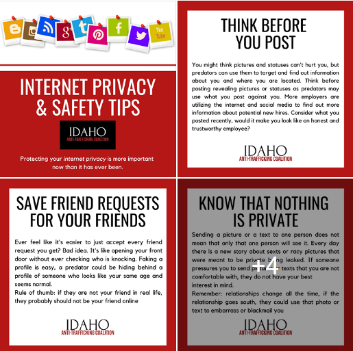 a screen capture of the safety tips