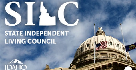 the dome of the idaho capitol building with the SILC logo over it
