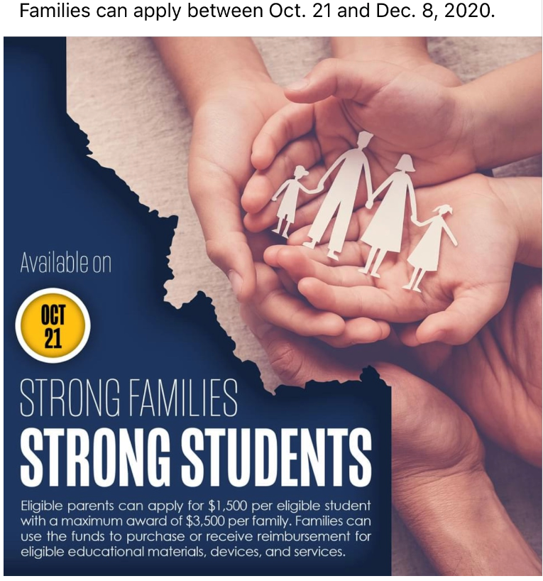 event flyer- has several hands collectively holding a paper cutout of a family