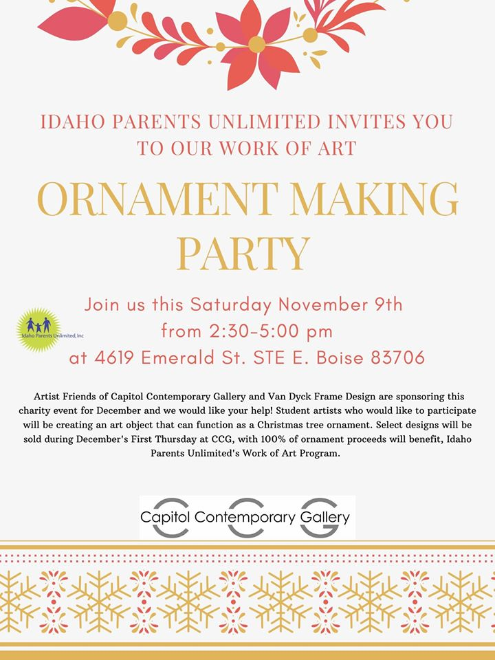 flyer for the ornament party