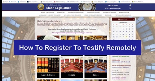 how to register to testify remotely banner