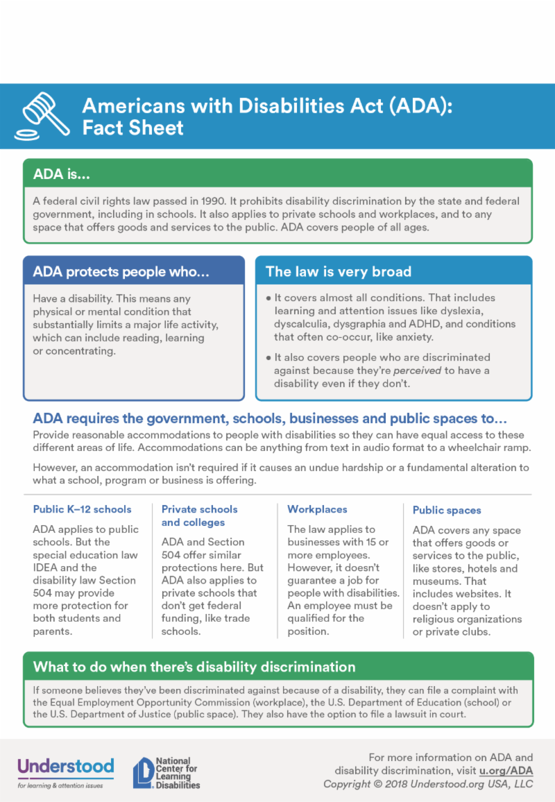 ada fact sheet