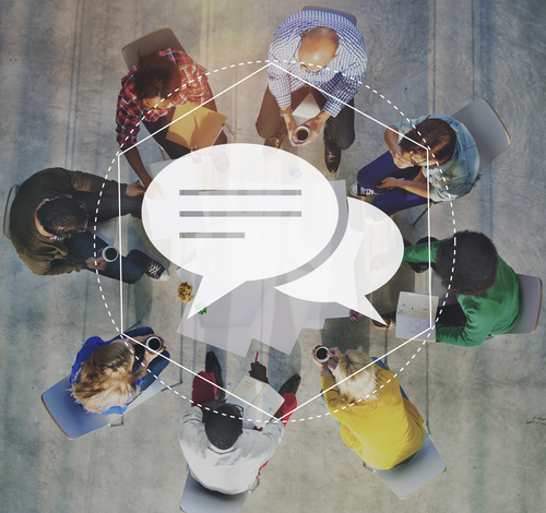 Messenger Discussion Community Technology Graphic Concept