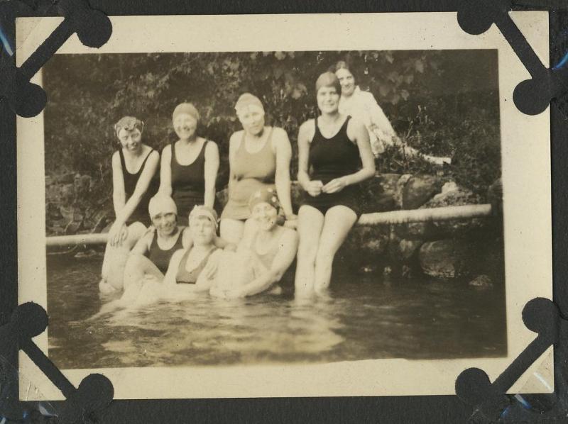 women swimming (old photo)