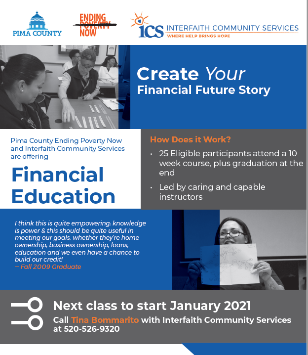 Financial Education class - click for more information
