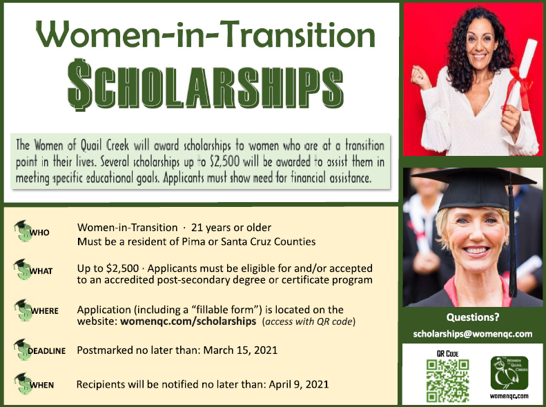 Women in Transition Scholarship poster