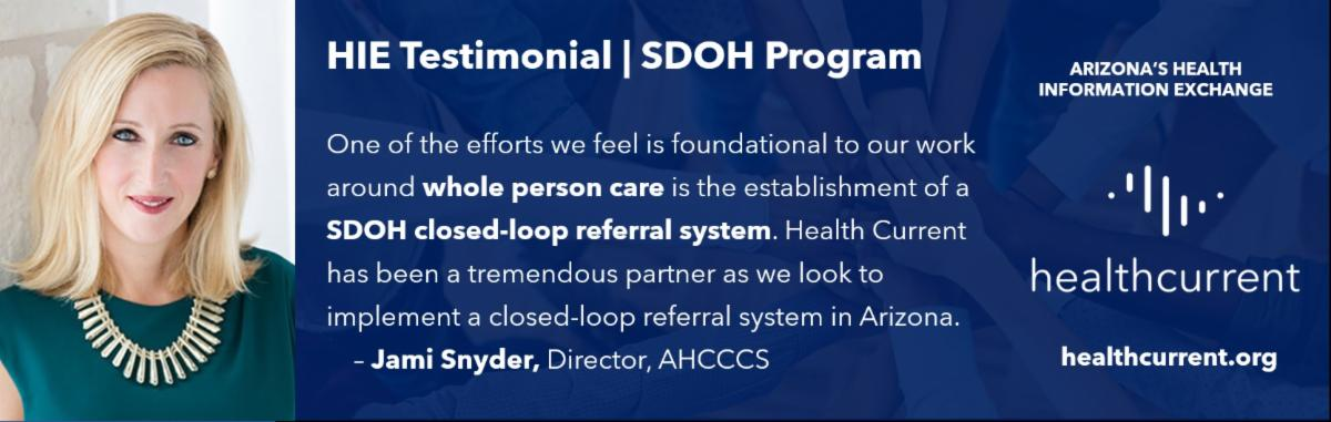 Jami Snyder, AHCCCS Director, and her testimonial about program