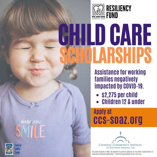 Child Care Scholarships for families in Tucson