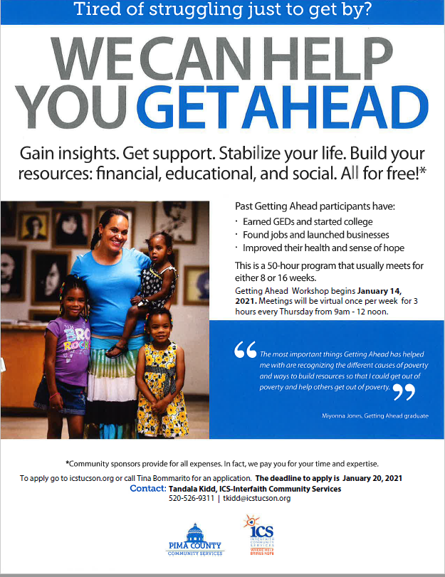 Getting Ahead workshop - click for more information