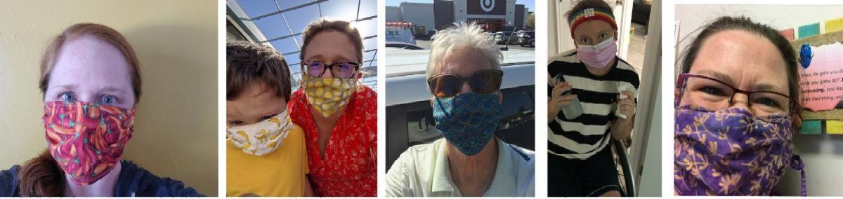 Five DIRECT employees wear masks