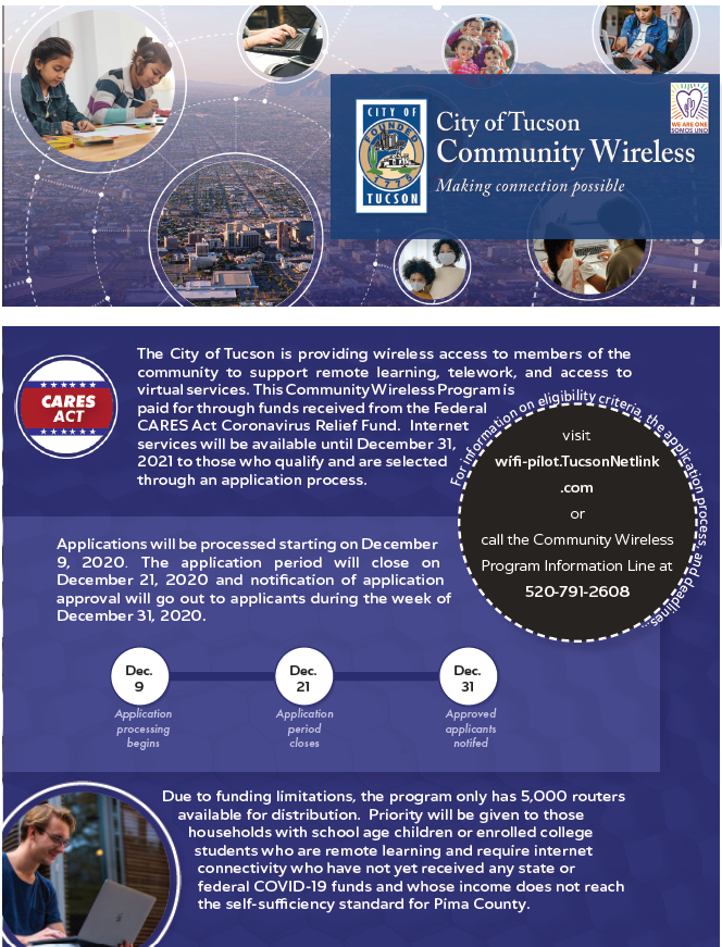City of Tucson Community Wifi Opportunity