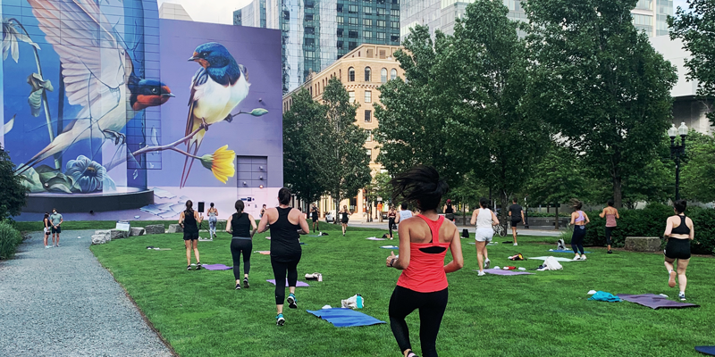 Yoga on the Greenway