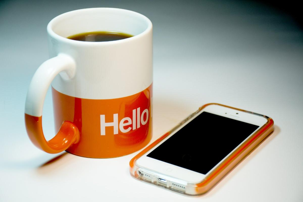 Coffee and Cellphone