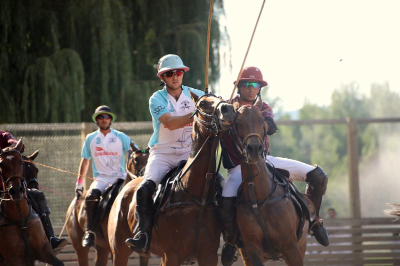 Alejandro Novillo Astrada of Flexjet tries to ride off Grant Ganzi of Casablanca.