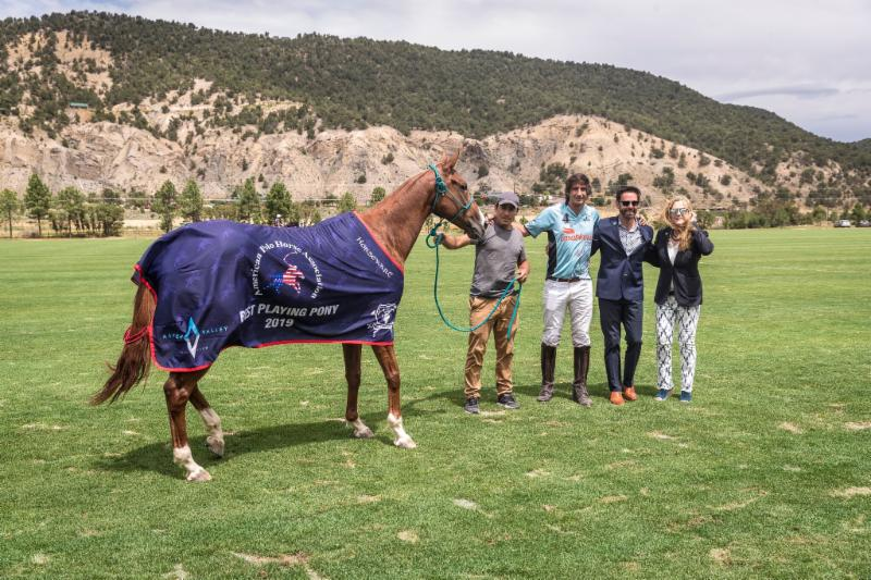 The American Polo Horse Association Best Playing Pony was Orangina_ played by Nacho Novillo Astrada.