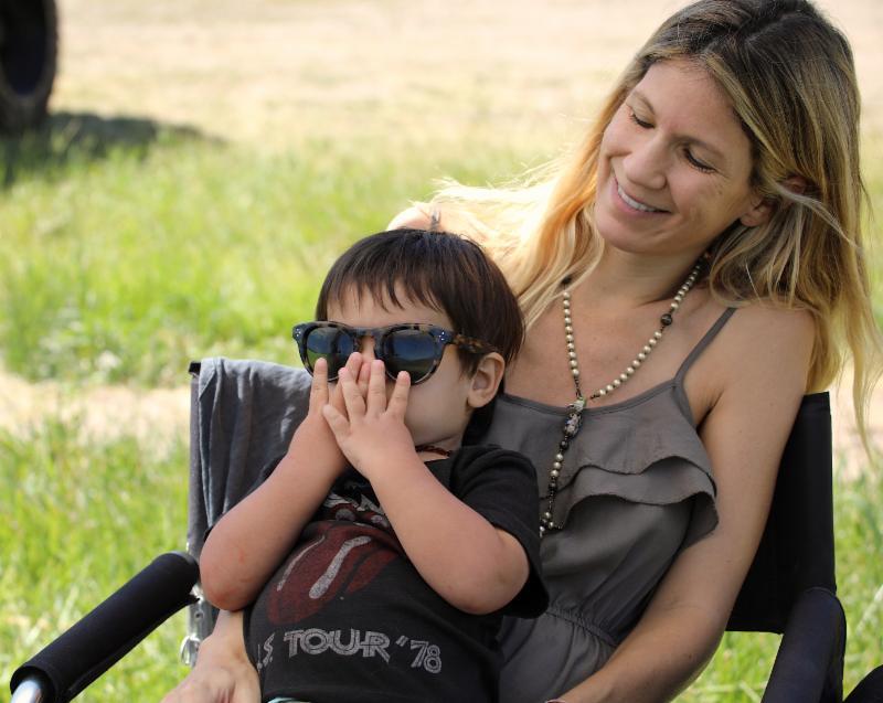 Facundo Novillo Astrada enjoying the Basalt Handicap with his mom in the players_ tent.