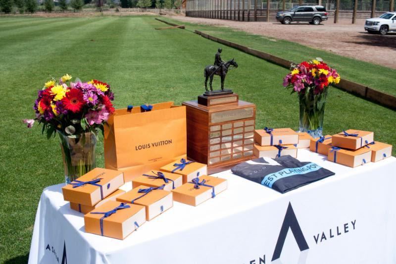 Trophy table for the 2018 Basalt Handicap.