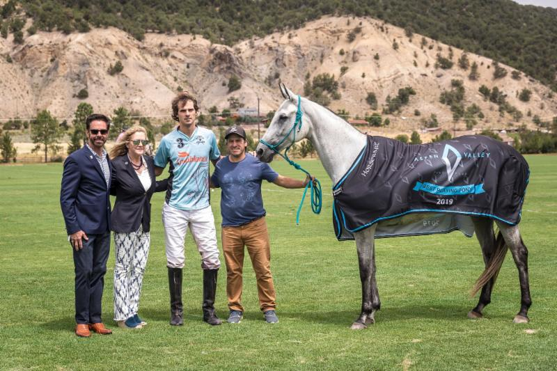 The Aspen Valley Polo Club Best Playing Pony of the Tournament was Lujan_ played by Lucas Lalor.