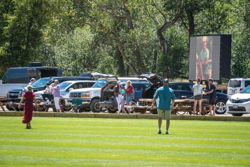 A good crowd was on hand to watch Basalt Handicap final that honored groom Chuy Baez on the club_s Jumbotron.