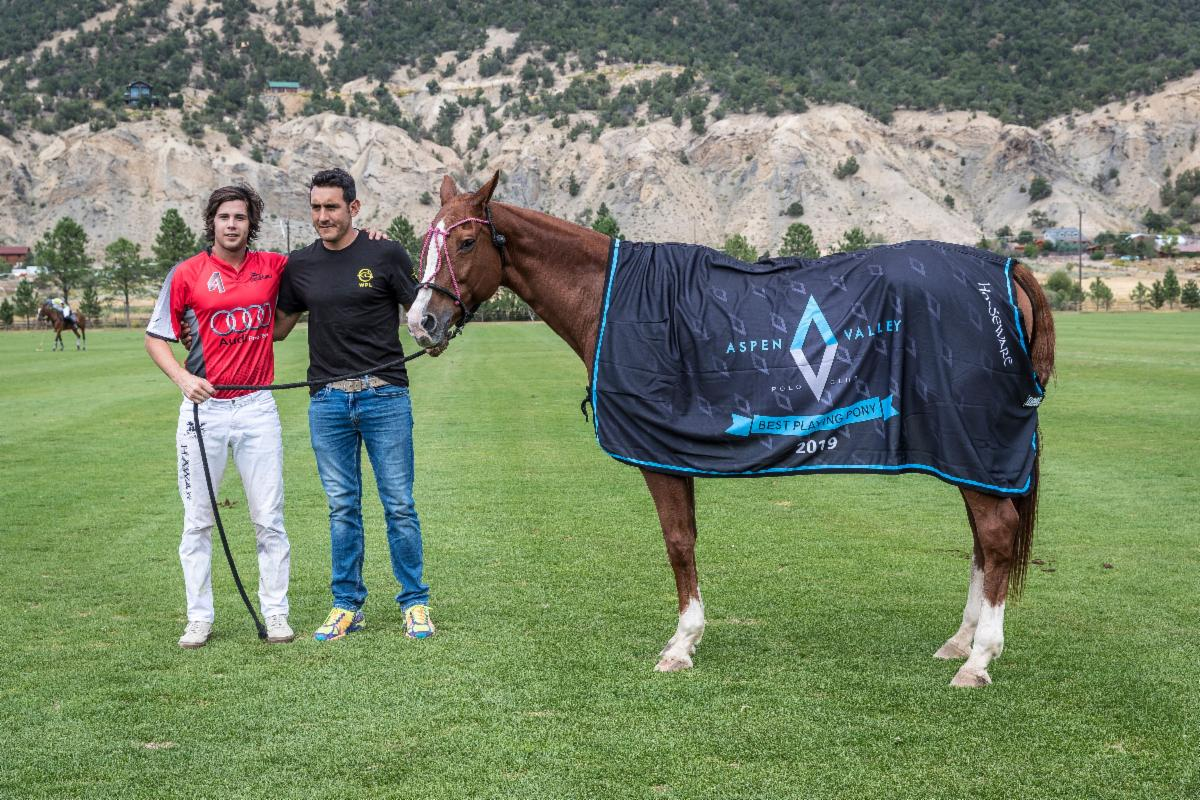 The Aspen Valley Polo Club Best Playing Pony Tampa Glitter played by Mariano Gracida.