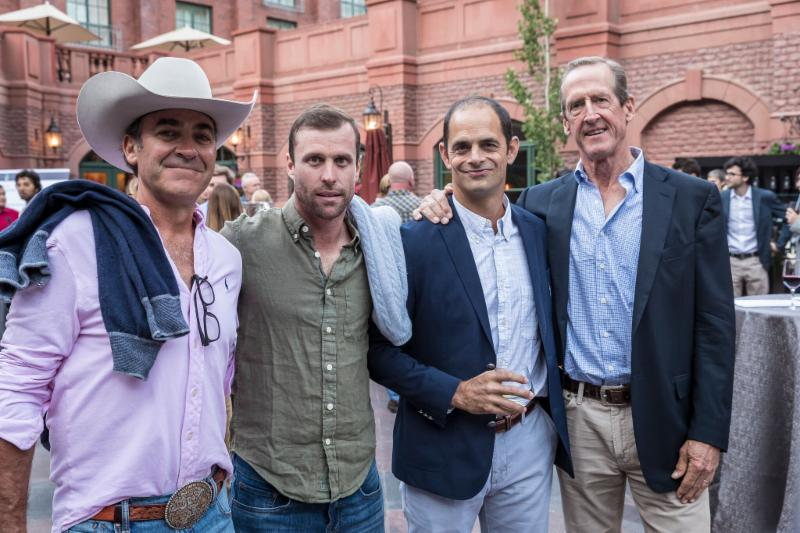 Brian Boyd_ Sapo Caset_ Carlucho Arellano and Stewart Armstrong all smiles at the 119th USPA Silver Cup draw.