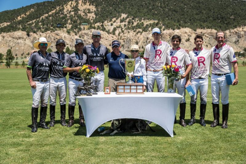 USPA North American Cup finalists La Karina and McClure River Ranch with award presenters Marc Ganzi and Cece Armstrong.