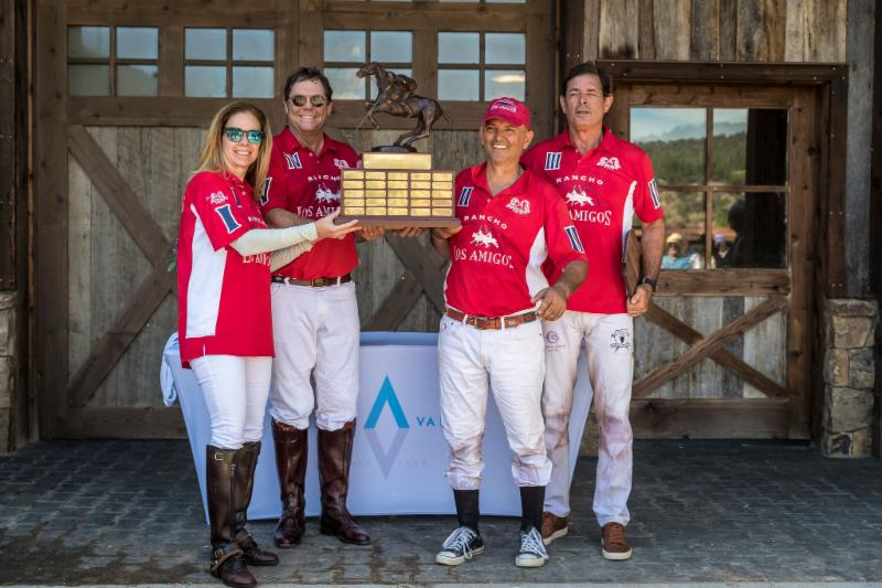 High Alpine Cup champion Los Amigos Red_s Alejandra Foster_ Paul Foster_ Gabriel Gracida and Juan Bollini.