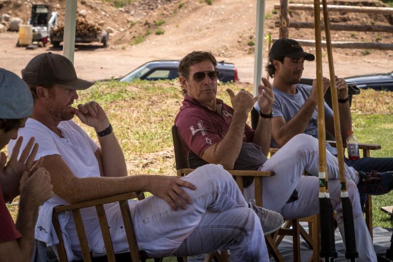 Juan Bollini of Flexjet holding court with Alejandro Novillo Astrada_ Kris Kampsen and Lucas Lalor.