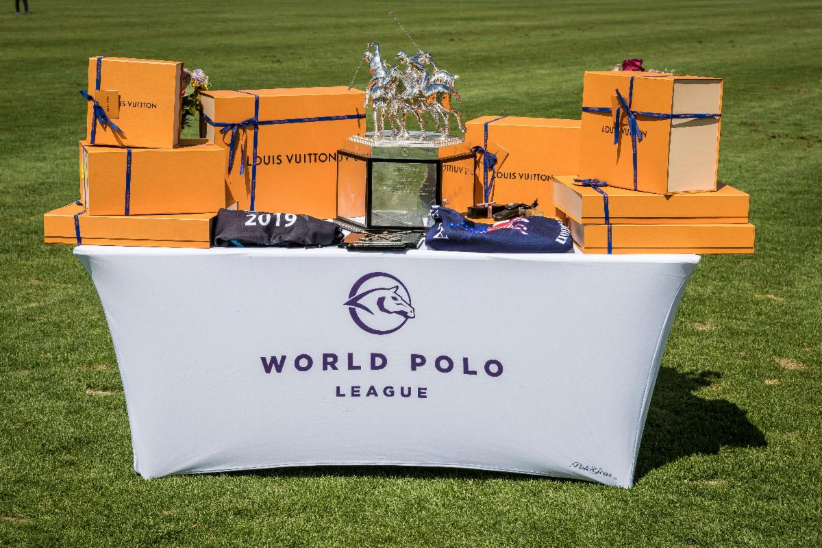 The awards table for the WPL Triple Crown of Polo.