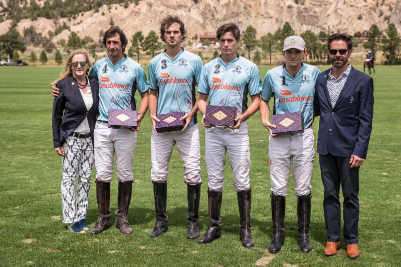 119th USPA Silver Cup runner-up Casablanca_s Nacho Novillo Astrada_ Lucas Lalor_ Juancito Bollini and Grant Ganzi.
