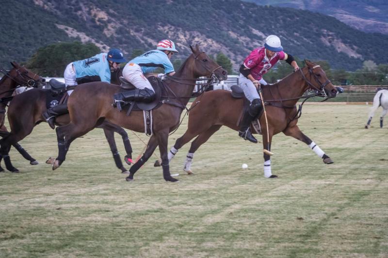 Casablanca defenders Grant Ganzi and Juancito Bollini double team Alfredo Bigatti of McClure River Ranch.