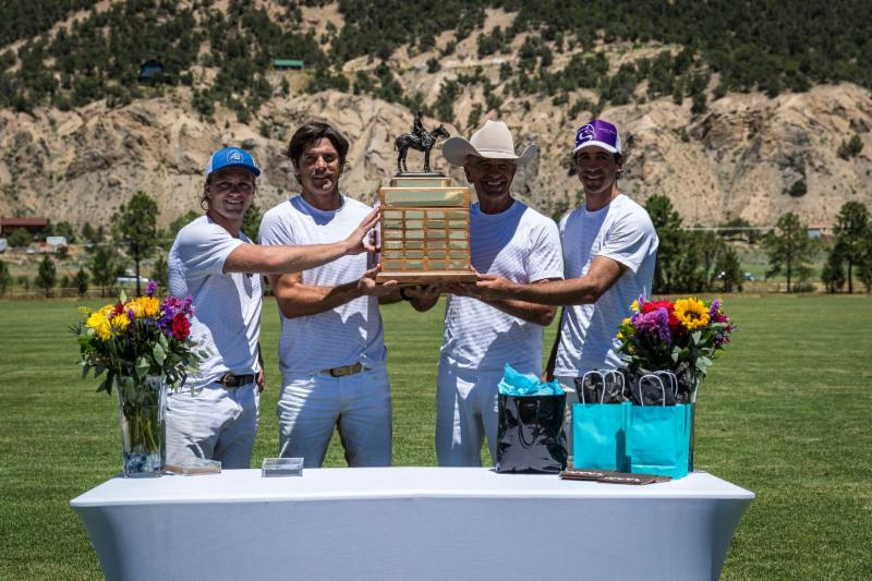 Basalt Handicap champion Piocho Ranch players Gussie Busch_ Nacho Figueras_ Tom Barrack and Alejandro Novillo Astrada.