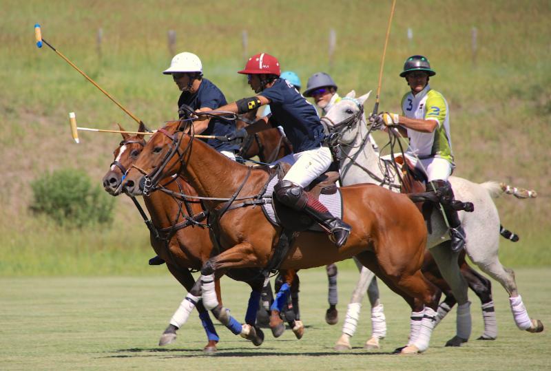 Piocho Ranch teammates Nacho Figueras and Alejandro Novillo Astrada work together.