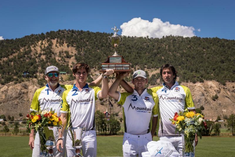 ChukkerTV Challenge Cup champions Mountain Chevrolet_s Michael Payne_ Juancito Bollini_ Grant Ganzi and Nacho Novillo Astrada.