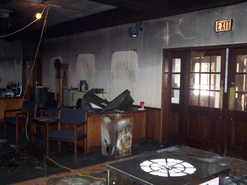 Geneva State Bank, IL (fire damage)