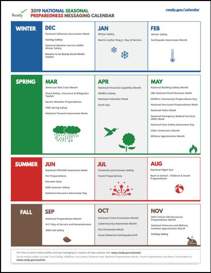 Seasonal Preparedness Calendar