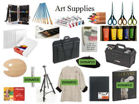 art supplies ideas