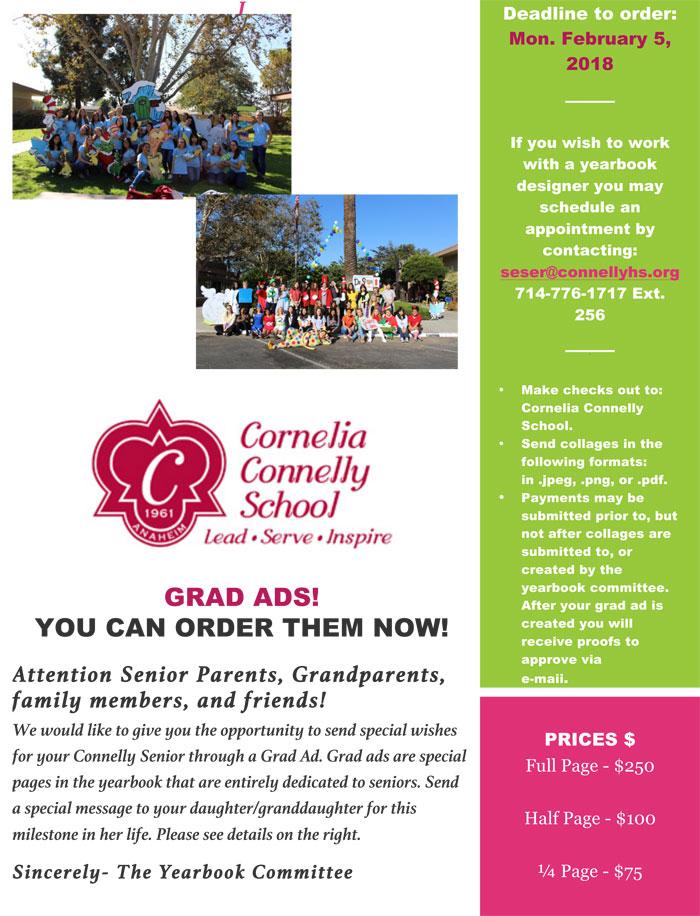 2018 Grad Ads Info