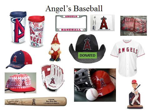 Angels Baseball donation items