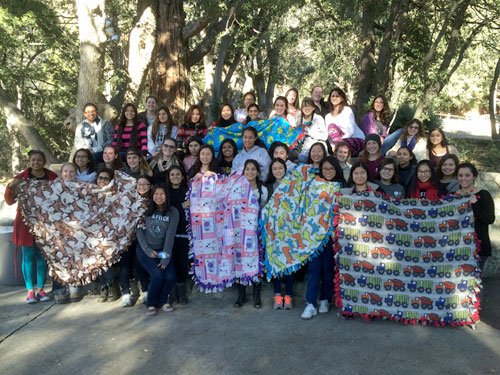 junior retreat with quilt