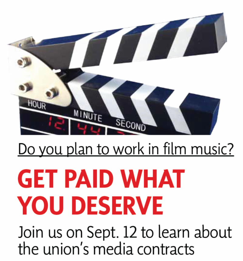 IMAGE_ Get paid what you deserve_ Local 802 presents a seminar about the union_s media contracts.